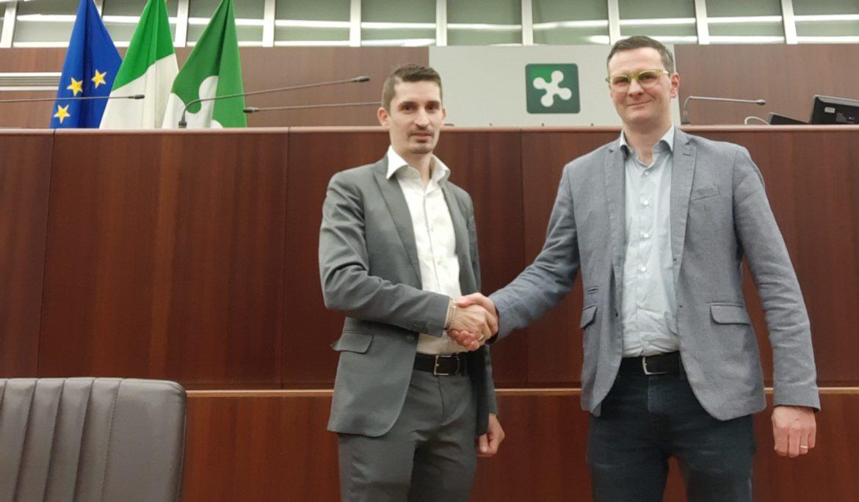 Incontro con Il segretario di Regione Lombardia Giovanni Malanchini